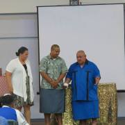 Esene presented with gifts